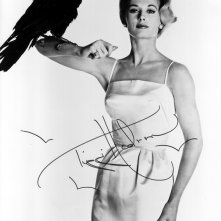 Tippi Hedren in una foto promozionale autografata per Gli uccelli