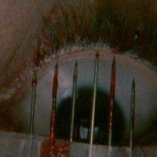 l'occhio di Christina Marsillach in una scena di Opera