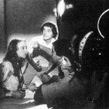 Dario Argento dirige Eleonora Giorgi sul set di Inferno