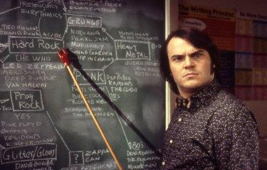L'irresistibile Jack Black in una scena di School of Rock