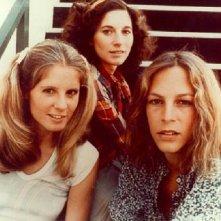 Le tre protagoniste di Halloween in una foto promozionale: P. J. Soles, Nancy Kyes e Jamie Lee Curtis
