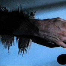Michael Myers cerca di entrare nella cucina dei Doyle in una scena di  Halloween
