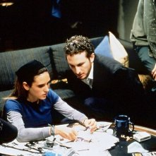 Darren Aronofsky e Jennifer Connelly sul set di Requiem for a Dream