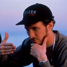 il regista Darren Aronofsky sul set di Requiem for a Dream