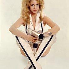 Jane Fonda in una foto promozionale per Barbarella