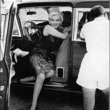 Marilyn Monroe sul set di A qualcuno piace caldo