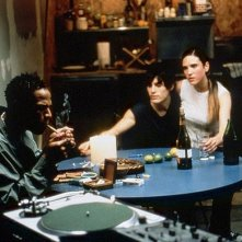 Marlon Wayans, Jennifer Connelly e Jared Leto in una scena di Requiem for a Dream