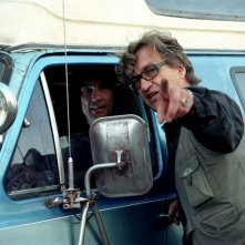 Wim Wenders sul set di La terra dell'abbondanza