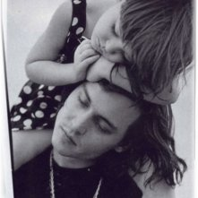 Johnny Depp con la nipotina Megan, in una foto per il magazine Vogue