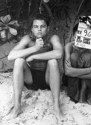 Leonardo DiCaprio sul set di The Beach