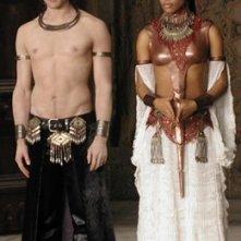 Aaliyah e Stuart Townsend in una scena del musical horror La regina dei dannati