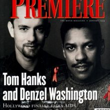 Tom Hanks e Denzel Washington sulla cover del magazine Premiere dedicata a Philadelphia