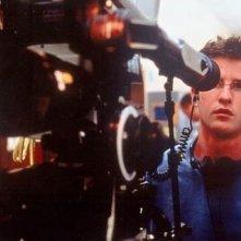 Il regista Richard Kelly sul set di Donnie Darko