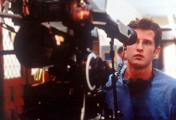 Il regista Richard Kelly sul set di Donnie Darko
