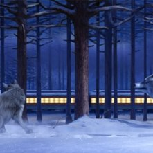 Una suggestiva scena del film Polar Express