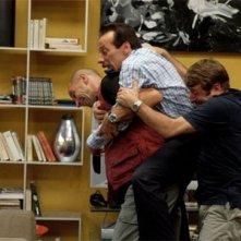 Aldo, Giovanni e Giacomo in una scena di Tu la conosci Claudia?