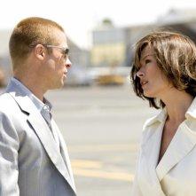 Brad Pitt e Catherine Zeta Jones in Ocean's Twelve