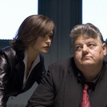 Catherine Zeta Jones e Robbie Coltrane in una scena di Ocean's Twelve