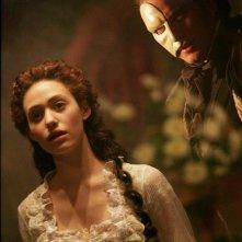 Gerard Butler ed Emmy Rossum ne Il fantasma dell'Opera