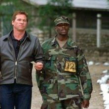 Derek Luke con Val Kilmer in una scena di Spartan