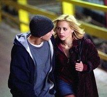 Eminem e Brittany Murphy in una scena di 8 Mile