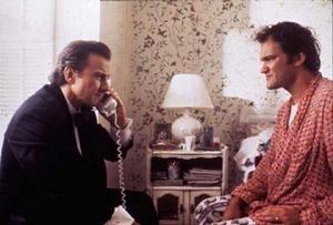 Harvey Keitel e Quentin Tarantino in una scena di Pulp Fiction