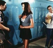 Jason Biggs e Shannon Elizabeth in una scena di American Pie