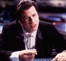 John Travolta in una scena di Pulp Fiction
