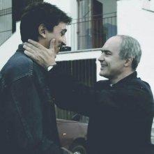 Luca Zingaretti e Corrado Fortuna in una scena del film Alla luce del sole