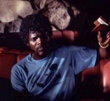Samuel L. Jackson in una scena di Pulp Fiction