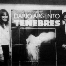 Daria Nicolodi e Dario Argento in Francia per la prima di Tenebre
