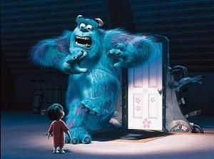 Una scena di Monsters & Co, del 2001