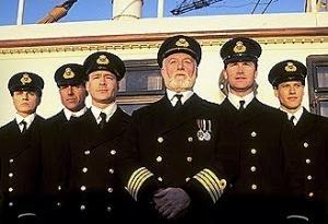 Bernard Hill in una scena di Titanic