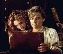 Kate Winslet e Leonardo DiCaprio in una scena di Titanic