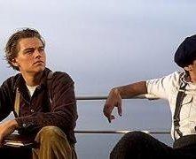 Leonardo DiCaprio e Danny Nucci in una scena di Titanic