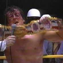 Sylvester Stallone in una sequenza di Rocky II