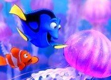 Una scena del film d'animazione Alla ricerca di Nemo