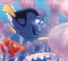 La simpatica pesciolina Doris in una scena di Alla ricerca di Nemo