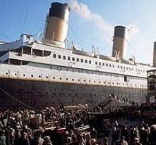 Una scena di Titanic di James Cameron