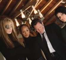 Lucy Liu, Daryl Hannah, Vivica A. Fox e Michael Madsen in una scena di Kill Bill: Volume 1