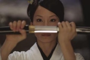 Lucy Liu (O'Ren Ishii) in una scena di Kill Bill: Volume 1