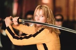 Uma Thurman nella scena del maxi-duello di Kill Bill: Volume 1