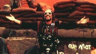 Dennis Hopper in una scena di Apocalypse Now