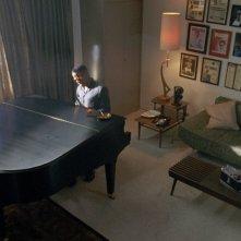 Jamie Foxx in una scena del biopic Ray
