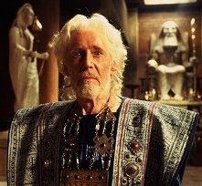 Peter O'Toole in una scena di Troy