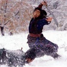Takeshi Kaneshiro in una sequenza del film La foresta dei pugnali volanti