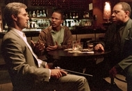 Tom Cruise, Jamie Foxx e Barry Shabaka Henley in una scena di Collateral