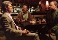 Tom Cruise, Jamie Foxx e Barry Shabaka Henley in una scena di Collateral