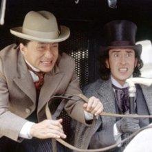 Jackie Chan con Steve Coogan in una scena de Il giro del Mondo in 80 giorni