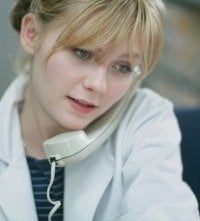Kirsten Dunst in una sequenza di Se mi lasci ti cancello